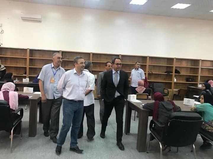زيارة رئيس وأعضاء اللجنة العليا للامتحانات للجنة امتحانات الشهادة الثانوية بمنطقة غريان