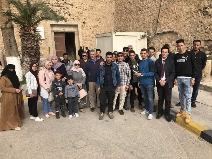 زيارة طلبة السنة الثالثة بقسم السياحة والآثار بكلية الآداب جامعة غريان برحلة علمية لقلعة السرايا الحمراء /طرابلس
