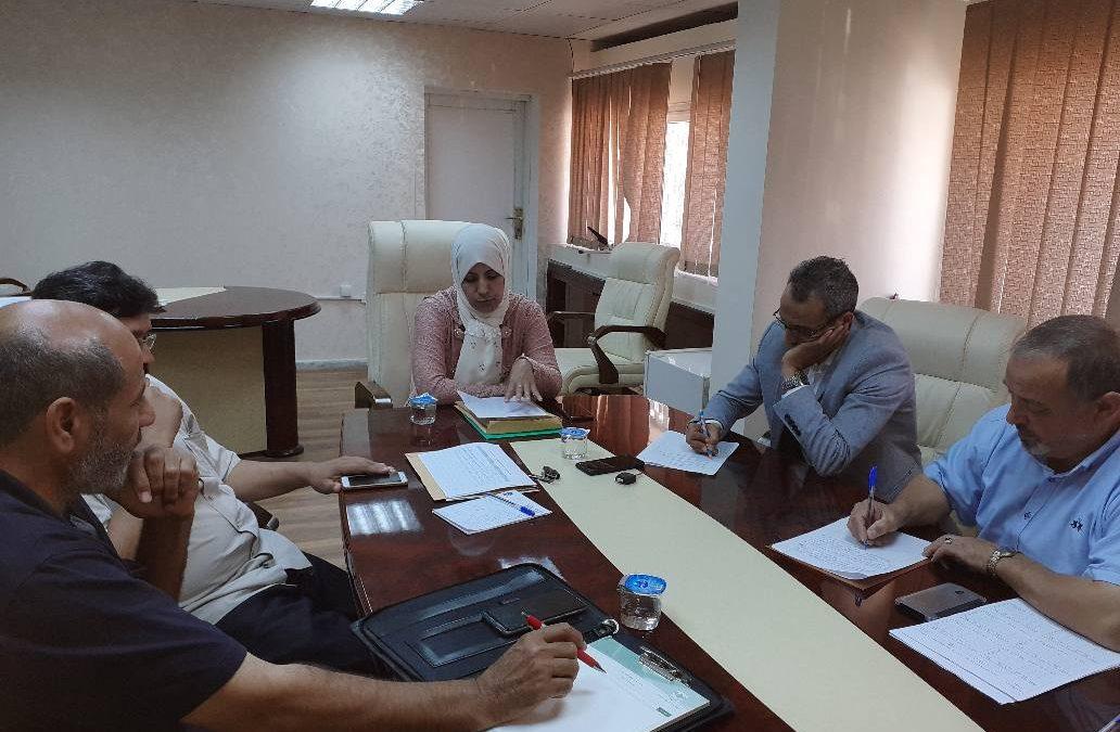 لإجتماع الدوري للجنة مراجعة وتقويم المقررات الدراسية بكليات جامعة غريان.