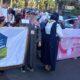 فريق الدعم وخدمة المجتمع بجامعة غريان يشارك في انطلاق الحملة الحادية عشر للتوعية بمرض سرطان الثدي